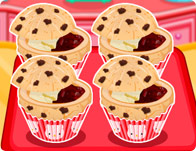 Kitty Chocolate Chip Jelly Muffins