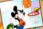 Mickey Basketball Online Coloring