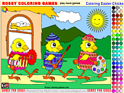 Coloring Easter Chicks - Rossy Coloring Games